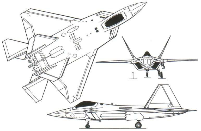 f 22 raptor coloring pages - photo #17
